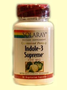 Indole 3 Supreme (200mg 30 caps) Solaray Vitamins