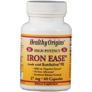 Iron Ease 27mg (60 caps) Healthy Origins