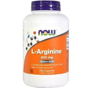 L-Arginine 500 mg (250 Caps) NOW Foods