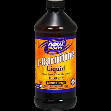 L-Carnitine Liquid  Citrus Flavor 1000 mg (16 oz.) NOW Foods