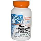 Doctor's Best - Best L-Tryptophan Enhanced with B6 & Niacinamide 500 mg. - 90 Vegetarian Capsules Doctor's Best
