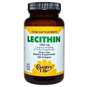 Natural Lecithin (1200 mg 100 Softgel) Country Life