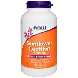 Lecithin 1200 mg (200 Gels) NOW Foods