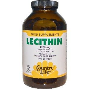 Natural Lecithin (1200 mg 300 Softgel) Country Life