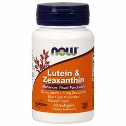 Lutein and Zeaxanthin (60 softgels) NOW Foods