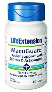 MacuGuard Ocular Support plus Astaxanthin & C3G (60 softgels)* Life Extension
