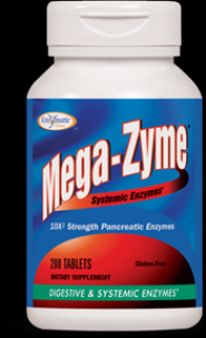 Mega-Zyme (200 tabs) Enzymatic Therapy