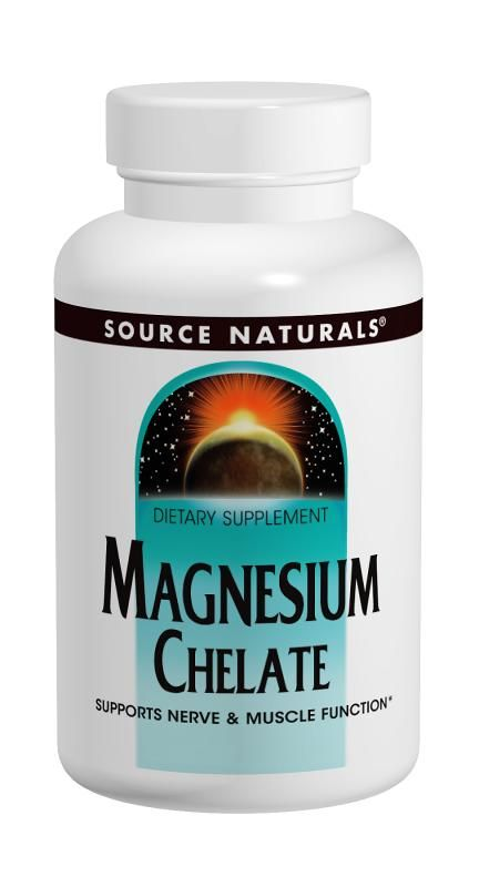 Magnesium Chelate 100mg (250 tabs)* Source Naturals