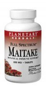 Maitake Mushroom, Full Spectrum (60 tabs) Planetary Herbals
