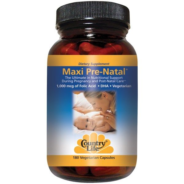 Maxi Pre-Natal Multi Vitamin (180 Caps) Country Life