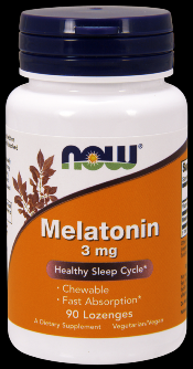 Melatonin 3 mg Chewable (90 Lozenges) NOW Foods