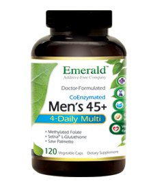 Men 45+ MULTI VIT-A-MIN (120 vegetarian capsules)* Emerald Labs