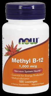 Brain B-12 Methylcobalamine (1,000 mcg 100 Lozenges) NOW Foods