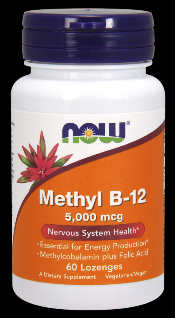 Brain B-12 Methylcobalamine (5,000 mcg 60 Lozenges) NOW Foods