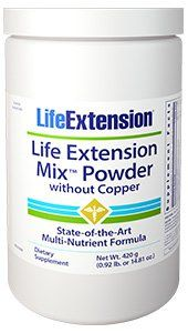 Life Extension Mix Powder w/Stevia without Copper (14.81 oz)* Life Extension