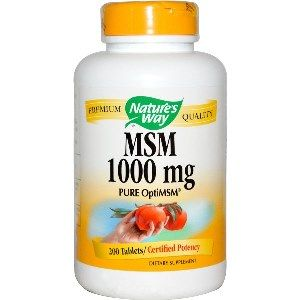 MSM 1000 mg  ( 200 Tablets)* Nature's Way