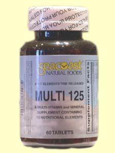 Multi 125 (60 Tabs) Seacoast Vitamins
