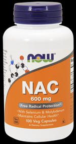 NAC, N Acetyl Cysteine (600 mg 100 Caps) NOW Foods