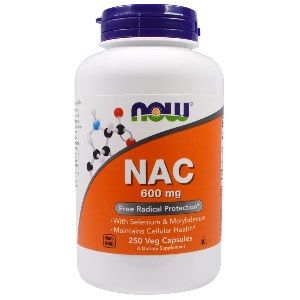 NAC, N Acetyl Cysteine (600 mg 250 Caps) NOW Foods