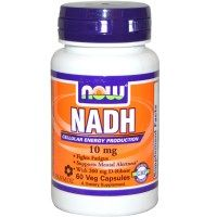 NADH 10mg (60 Veggie Caps) NOW Foods