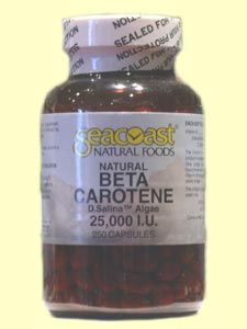 Beta Carotene, Natural 25,000 IU (250 Caps) Seacoast Vitamins