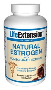 Natural Estrogen w/ Pomegranate Extract (60 Caplts)* Life Extension