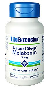 Natural Sleep Melatonin 5 mg (60 Veggie Caps)* Life Extension