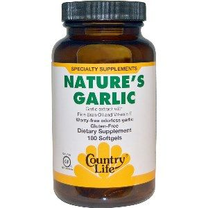 Nature's Garlic (500 mg 180 Softgel) Country Life