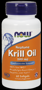 Neptune Krill Oil (60 softgels 500 mg) NOW Foods