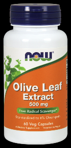 Olive Leaf Extract (60 Vcaps 500 mg) NOW Foods