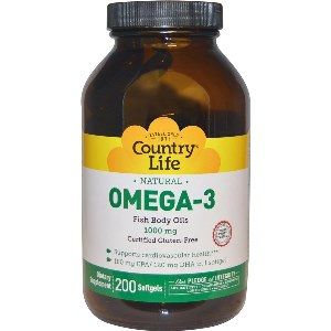 Omega-3 1000mg (200 Softgel) Country Life