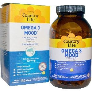 Omega 3 Mood (180 Softgel) Country Life