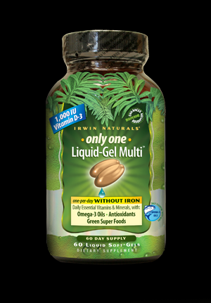 Only One Liquid-Gel Multi without Iron (60 soft gels) Irwin Naturals