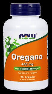 Oregano 450 mg (100 Caps) NOW Foods