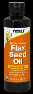 Organic Flax Seed Oil  (24 Oz) NOW Foods