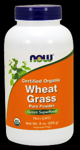 Organic Wheat Grass Powder (9 oz) NOW Foods