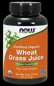 Organic Wheat Grass Juice (4 oz) NOW Foods