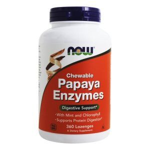 Papaya Enzyme 360 Lozenges NOW Foods