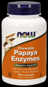 Papaya Enzyme (180 Lozenges) NOW Foods