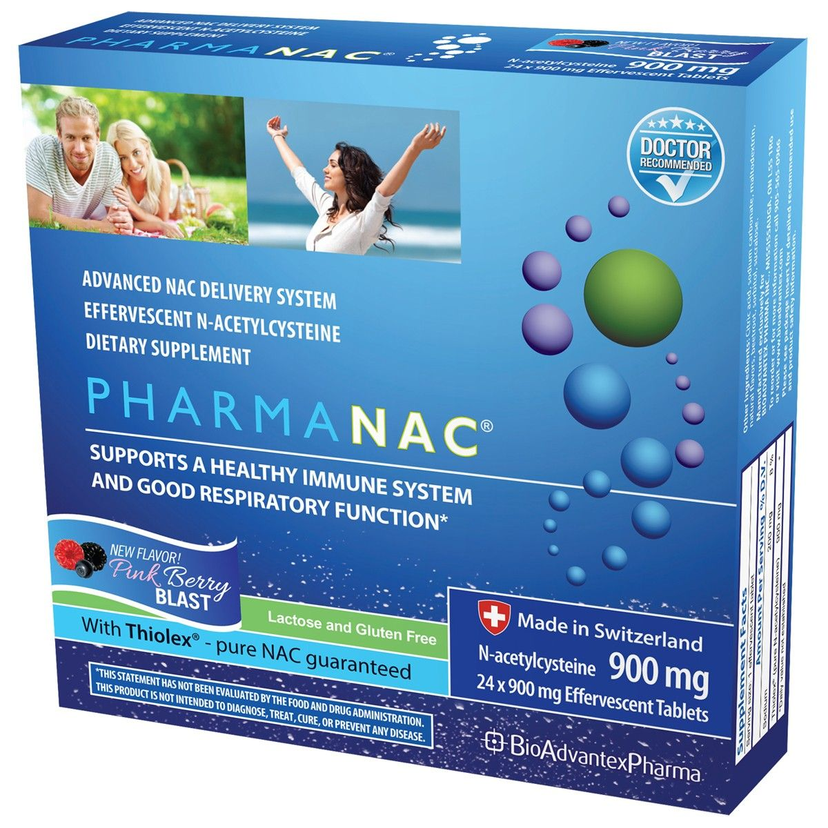 PharmaNAC (900 mg , 24 effervescent tablets)* BioAdvantex Pharma