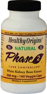 Phase 2 Starch Neutralizer (500mg 180 capsules) Healthy Origins