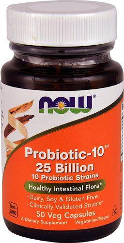 Probiotic-10 25 Billion ( 50 Vcaps) NOW Foods