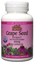 Grape Seed Extract 100mg (90 Caps)* Natural Factors
