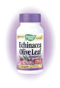 Olive leaf & Echinacea 100 caps) Nature's Way