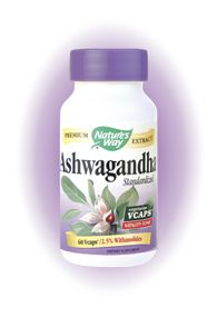 Ashwagandha Standardized (60 caps)* Nature's Way
