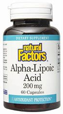 Alpha Lipoic Acid 200 mg (60 caps)* Natural Factors