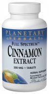 Cinnamon Extract (120 Tabs) Planetary Herbals