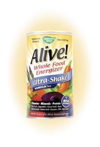 Alive! Whole Food Energizer Ultra Shake Vanilla Flavor (1lb) Nature's Way