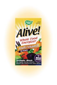 Alive! Whole Food Multi Vitamin w/ Iron (90vcaps) Nature's Way