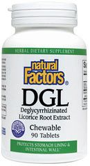 DGL (Deglycyrrhizinated Licorice Root Extract) (90 Tabs)* Natural Factors